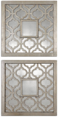 Uttermost Set Of 2 Sorbolo Squares Decorative Mirror