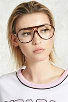 Forever 21 Clear Aviator Readers