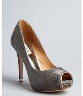 Badgley Mischka gold lurex fabric 'Humbie IV' peep toe pumps