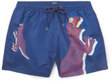 Paul Smith Mid-Length Dinosaur-Print Swim Shorts