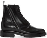 Saint Laurent Black Short Zip Army Boots