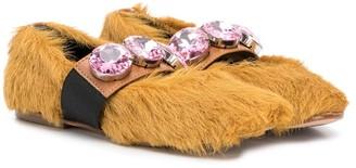 Marni Crystal-Embellished Ballerina Shoes
