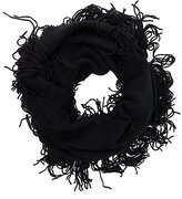 Charlotte Russe Ribbed Fringe Infinity Scarf