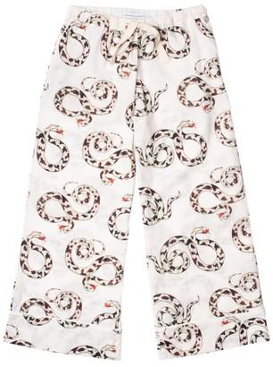 Desmond & Dempsey Snake Print Pyjama Bottoms