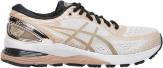 Asics GEL-Nimbus 21 Running Shoes - White / Frost Almond Black
