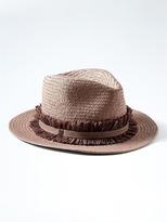 Banana Republic Raffia Trim Straw Hat