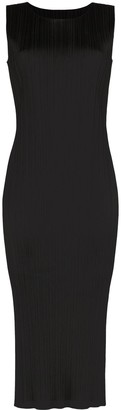 Pleats Please Issey Miyake Sleeveless Midi Dress