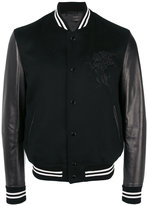 Alexander McQueen winged lion bomber jacket - men - Leather/Polyamide/Spandex/Elastane/Wool - 50