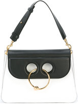 J.W.Anderson Medium White and Black Pierce Shoulder Bag - women - Calf Leather - One Size