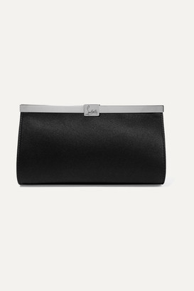 Christian Louboutin Palmette Embellished Satin Clutch - Black