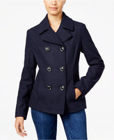 Celebrity Pink Double-Breasted Peacoat