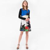 Paul Smith Women's Black 'Colour-Block Botanical' Print Jersey Dress