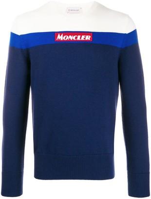 Moncler colour blocked jumper