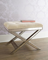 Horchow Lila Mirrored X Stool