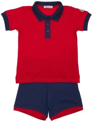 Moncler Cotton Pique Polo Shirt & Shorts
