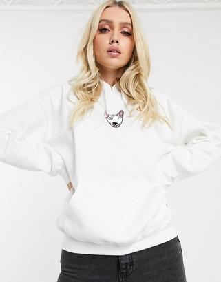 New Love Club staffy hoodie-White