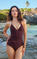 Voda Swim Huckleberry Envy Push Up Shirred One Piece