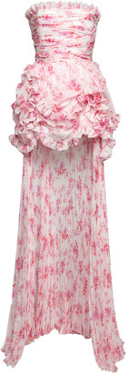 Philosophy di Lorenzo Serafini Printed Chiffon Mini Dress