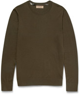 Burberry - Check-trimmed Cashmere Sweater