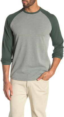Vince Long Sleeve Thermal Knit Baseball T-Shirt