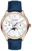 Movado Women's 'Heritage' Multifunction Leather Strap Watch, 36Mm