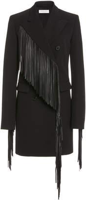 Michael Kors Fringed Gabardine Coat Dress