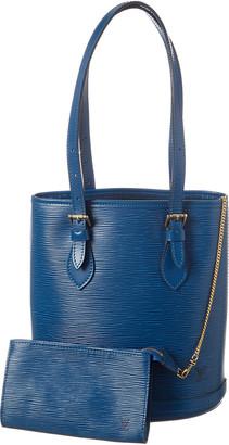 Louis Vuitton Blue Epi Leather Bucket Petite