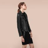 Maje Lambskin bubble leather jacket