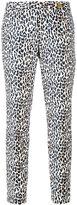 MICHAEL Michael Kors leopard print trousers - women - Cotton/Spandex/Elastane - 4