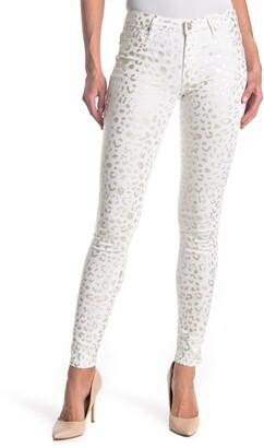 Black Orchid Jude Leopard Print Mid Rise Super Skinny Jeans