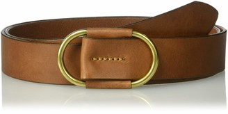 Circa Leathergoods Circa Women's Fully Adjustable Leather Belt with Oval Ring