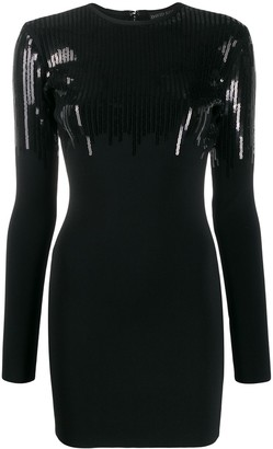David Koma Sequinned Mini Dress