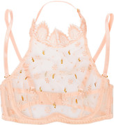 Agent Provocateur Siorée Lyalya embellished lace underwired bra