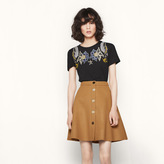 Maje A-line skirt with golden buttons