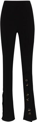 A.W.A.K.E. Mode High-Waisted Side Button Skinny Trousers