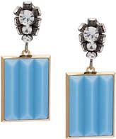 Marni bevelled pendant earrings
