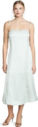 Keepsake Women's Resound Sleeveless LACE Trim Slip MIDI Dress