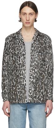 Wacko Maria Grey and Brown Flannel Leopard Shirt