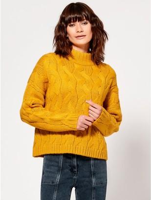 M&Co Turtleneck cable knit jumper