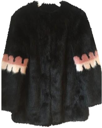 Shrimps Black Faux fur Coats