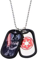 Star Wars Darth Vader Double Dog Tag Pendant Stainless Steel Necklace