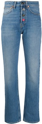 Semi-Couture High-Rise Straight Jeans