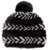 Surell Mink Fur Beanie Hat
