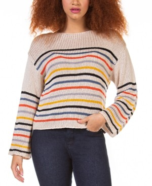 Black Tape Petite Textured Striped Sweater