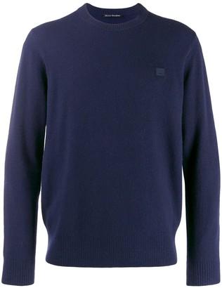 Acne Studios face patch sweater
