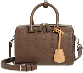 MCM Essential Monogram Leather Satchel