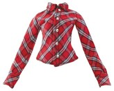 MGA Entertainment Red Plaid Button Up Top
