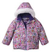 Hawke & Co Hawke Co Girls' 2T-4T Lilac Owl Print Bubble Jacket