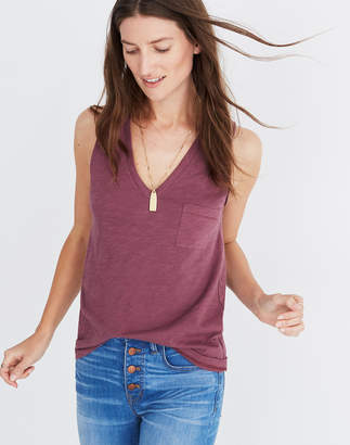 Madewell Whisper Cotton V-Neck Pocket Tank