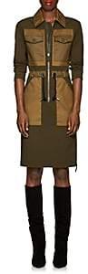 Altuzarra Women's Bowles Crepe & Twill Zip-Front Dress - Pine